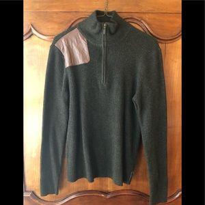 "Ralph Lauren ""hunter"" sweater w leather patch"